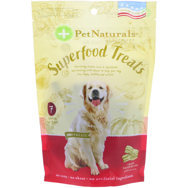 Pet Naturals of Vermont, Лакомство для собак из чудо-пищи, рецепт с хрустящим беконом, более 100 лакомств, 8,5 унц. (240 г) (Discontinued Item)