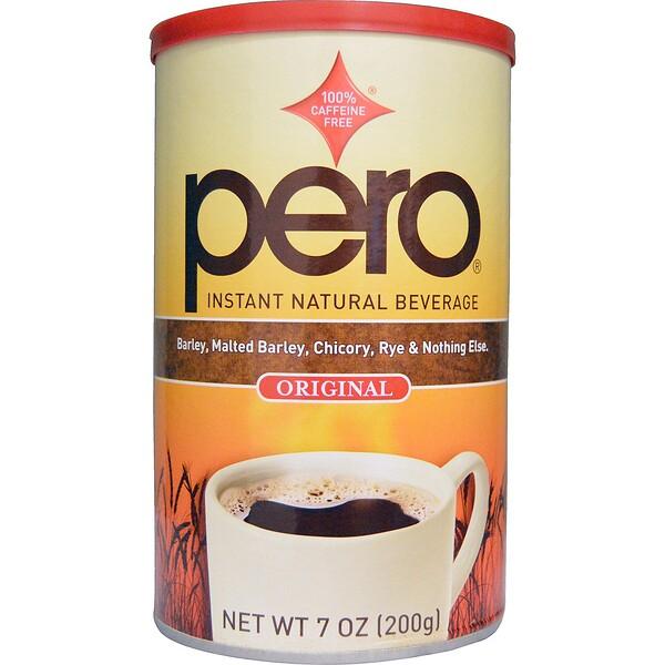 Pero, Быстрорастворимый натуральный напиток, без кофеина, оригинальный, 200 г (7 унций)