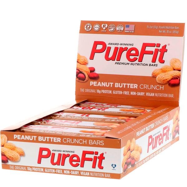 Premium Nutrition Bars, Хрустящие Батончики с Арахисовым Маслом, 15 штук по 2 унции (57 г) каждая