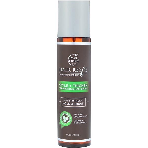 Hair ResQ, средство для повышения густоты волос, стиль+утолщение, гель сильной фиксации волос, 240 мл