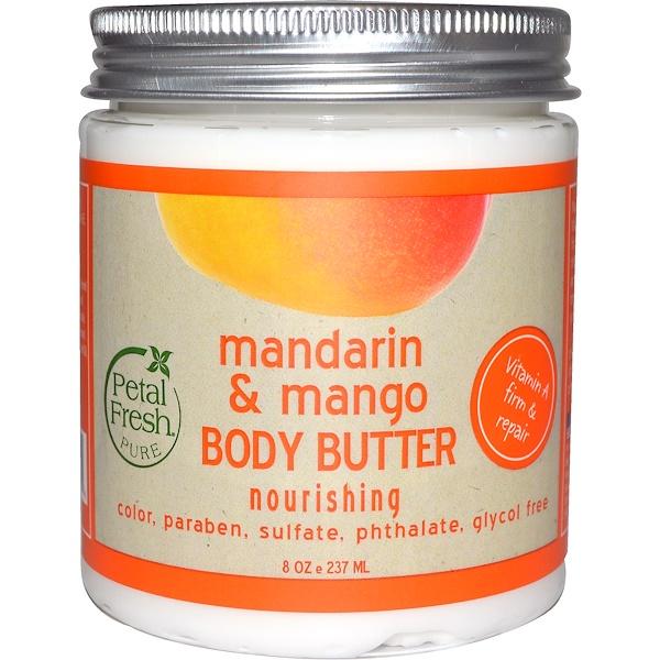 Pure, Масло для тела, питательное, мандарин и манго, 8 унций (237 мл)