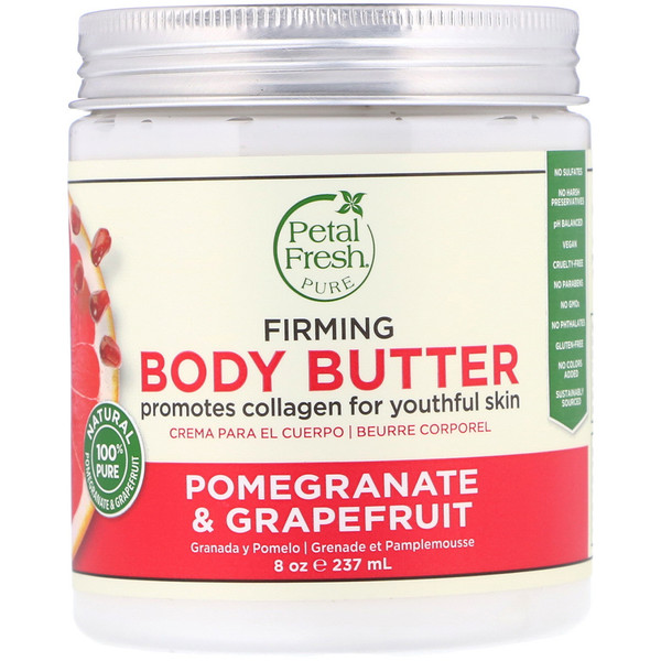Petal Fresh, Pure, масло для тела, способствует упругости кожи, Pomegranate & Grapefruit, 8 унц. (237 мл)