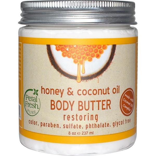 Pure, Восстанавливающее масло для тела, с медом и кокосовым маслом, 8 унций (237 мл)