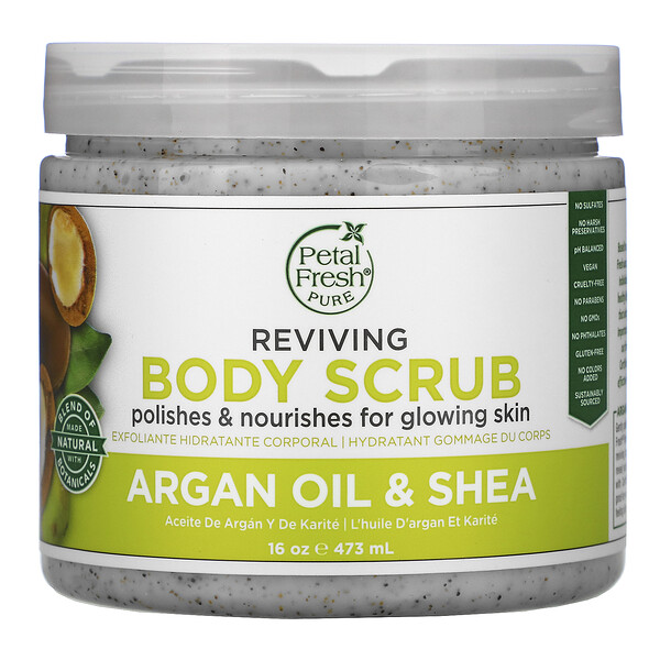 Reviving Body Scrub, Argan Oil & Shea, 16 oz (473 ml)
