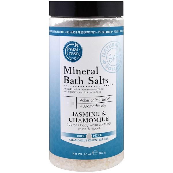 Petal Fresh, Pure, Минеральная соль для ванн, жасмин и ромашка, 20 унций (567 г) (Discontinued Item)