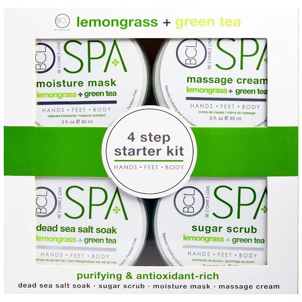 Petal Fresh, Спа, начальный набор для 4 шагов, очищает и насыщен антиоксидантами, длемонграсс и зеленый чай, 4 шт по 85 мл (3 жидкие унции) каждая (Discontinued Item)