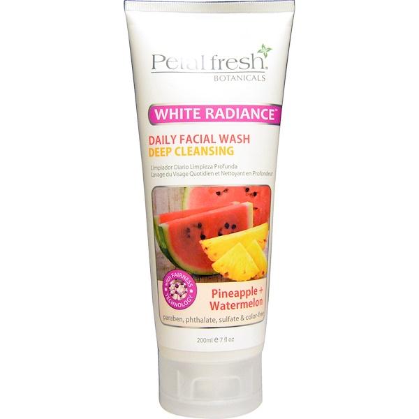 Petal Fresh, Botanicals, Белое сияние, средство для ежедневного очищения лица, ананас + арбуз, 7 жидких унций (200 мл) (Discontinued Item)