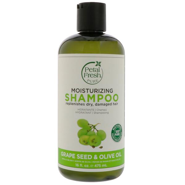 Pure, антивозрастной шампунь, семена винограда и оливковое масло, 16 жидких унций (475 мл)