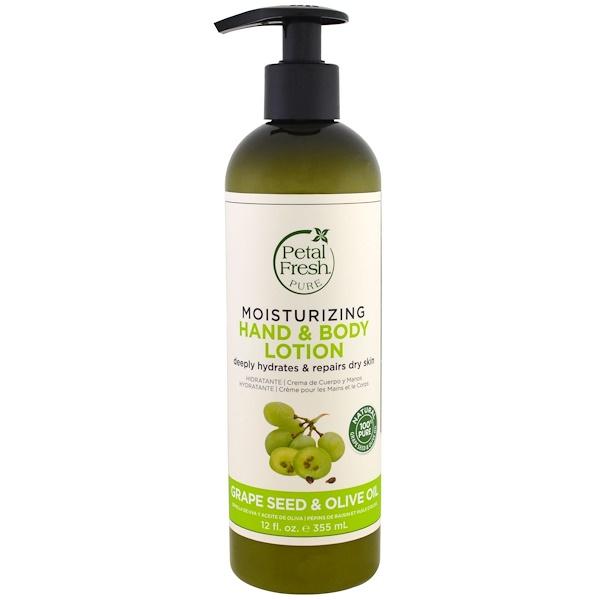 Petal Fresh, чистый, увлажняющий лосьон для рук и тела, масло оливковых косточек и оливковое масло, 12 ж. унц.(355 мл) (Discontinued Item)