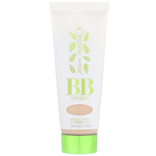 Physicians Formula, Organic Wear, BB All-in-1 Beauty Balm Cream, SPF 20, Light, 1.2 fl oz (35 ml) (Discontinued Item)