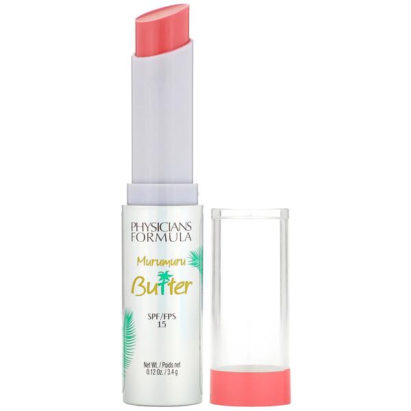 Physicians Formula, Крем для губ с маслом мурумуру, SPF15, оттенок «Розовый фламинго», 3,4г (Discontinued Item)
