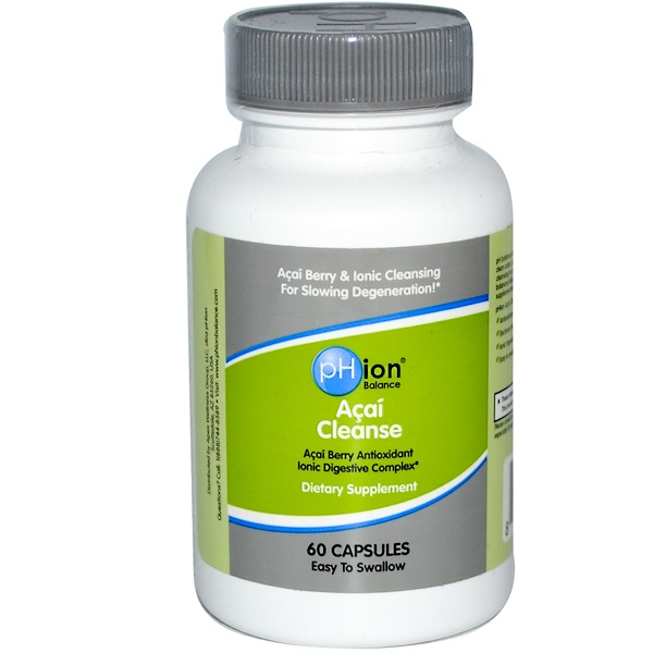 pHion Balance, Açaí Cleanse, 60 Capsules (Discontinued Item)