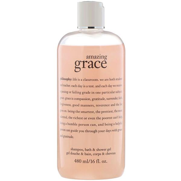 Шампунь-гель для душа и ванны Amazing Grace, 480 мл