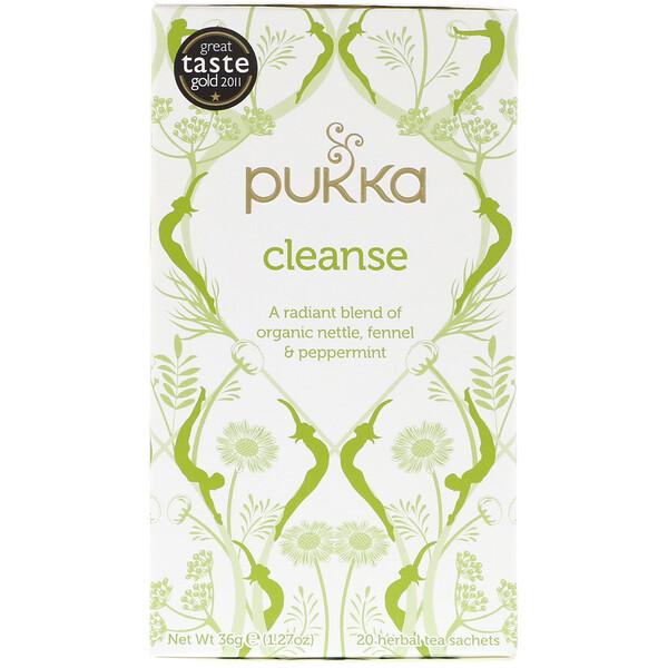 Очищающий травяной чай, не содержащий кофеина, 20 пакетиков, 1,27 ун. (36 г)