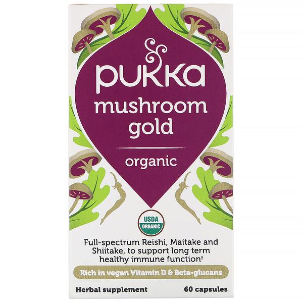Pukka Herbs, Organic Mushroom Gold, 60 Capsules