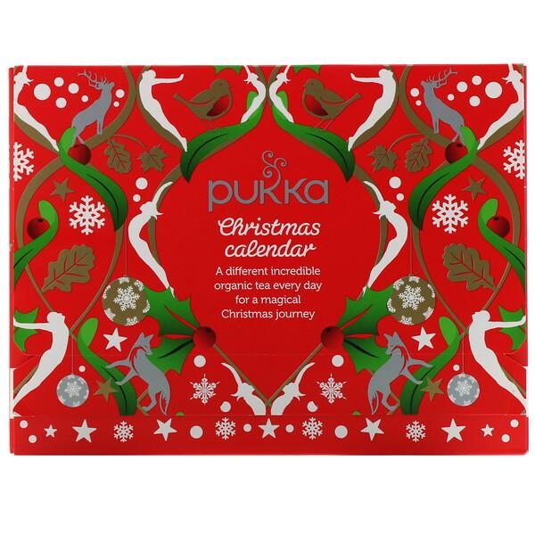 Pukka Herbs, Рождественский календарь, чайное ассорти, 24пакетика