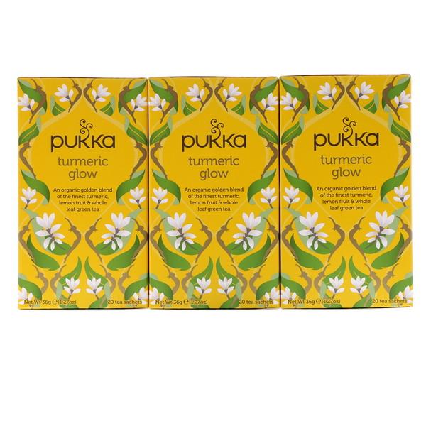 Pukka Herbs, Чай из куркумы, 3 шт., 20 пакетиков травяного чая (Discontinued Item)