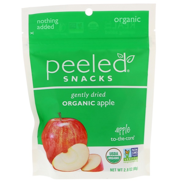Peeled Snacks, Gently Dried Organic Apple, 2.8 oz (80 g) (Discontinued Item)