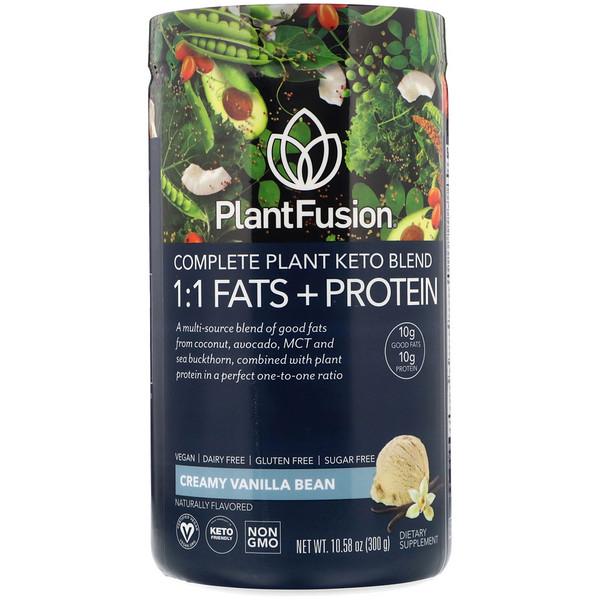 Растительный комплекс для кетодиеты, жиры и белки 1:1, со вкусом ванили, 300г