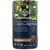 PlantFusion, Растительный комплекс для кетодиеты, жиры и белки 1:1, со вкусом шоколада, 315г