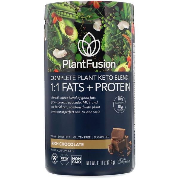 Растительный комплекс для кетодиеты, жиры и белки 1:1, со вкусом шоколада, 315г
