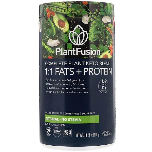 Растительный комплекс для кетодиеты, жиры и белки 1:1, натуральный вкус— без стевии, 290г