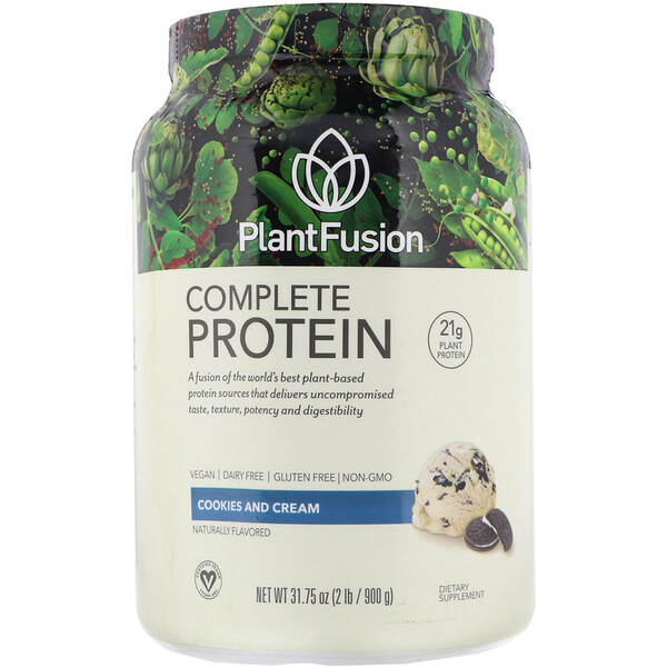 Complete Plant Protein, Cookies and Cream, 2 lb (900 g)