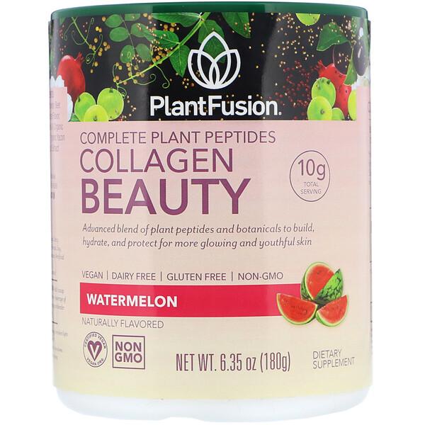 Комплекс с растительными пептидами, Collagen Beauty, арбуз, 180г