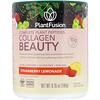 PlantFusion, Комплекс с растительными пептидами, Collagen Beauty, клубничный лимонад, 180г
