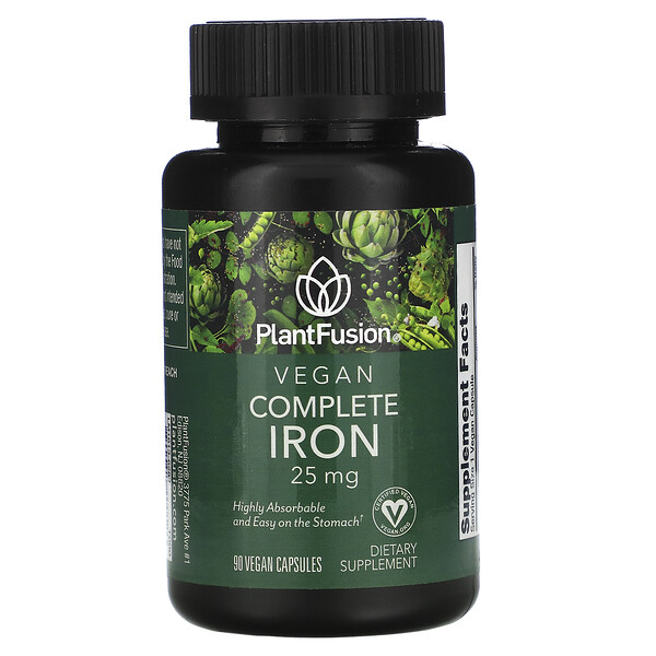 Vegan Complete Iron, 25 mg, 90 Vegan Capsules