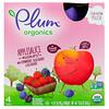 Plum Organics, Organic Applesauce Mashups with Strawberry, Blackberry & Blueberry , 4 Pouches, 3.17 oz (90 g) Each