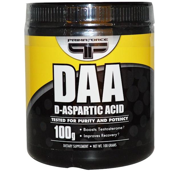 Primaforce, DAA, D-аспартовая кислота, 100 г (Discontinued Item)