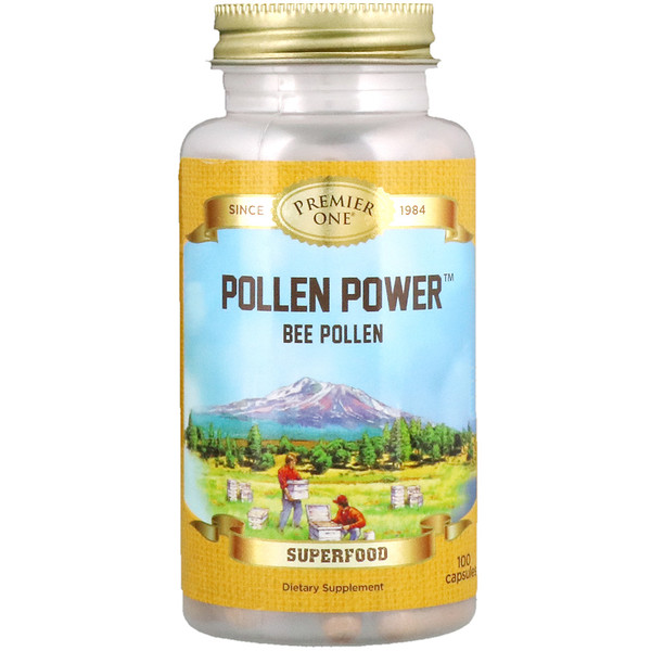 Premier One, Pollen Power, Bee Pollen, 100 Capsules (Discontinued Item)