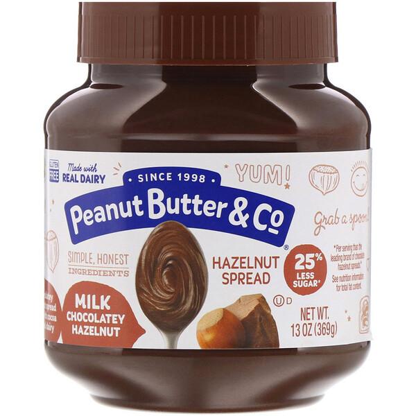 Peanut Butter & Co., Спред из фундука, молочный шоколад и фундук, 369г (13унций)
