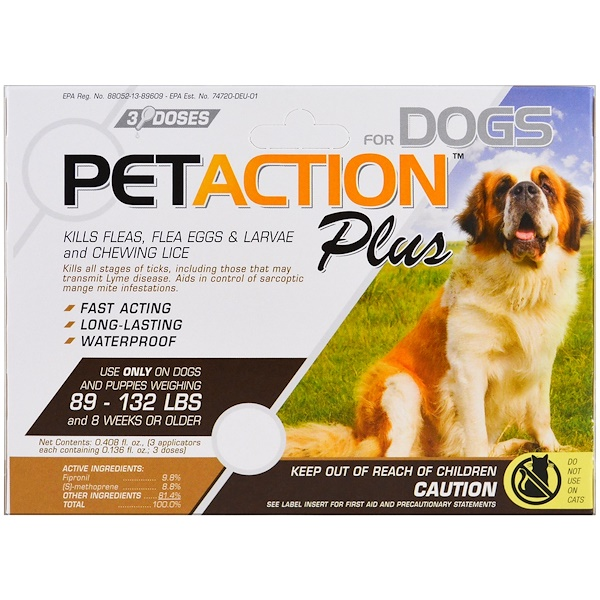 PetAction Plus, For Xlarge Dogs, 3 Doses - 0.136 fl oz Each (Discontinued Item)