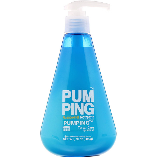 Pumping Fluoride-Free Toothpaste, Spearmint, 10 oz (285 g)