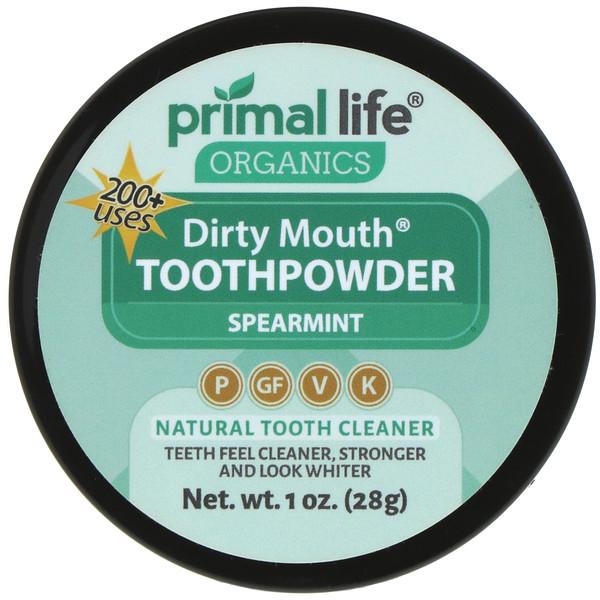 Primal Life Organics, Зубной порошок, сладкая мята, 1 унция (28 г)