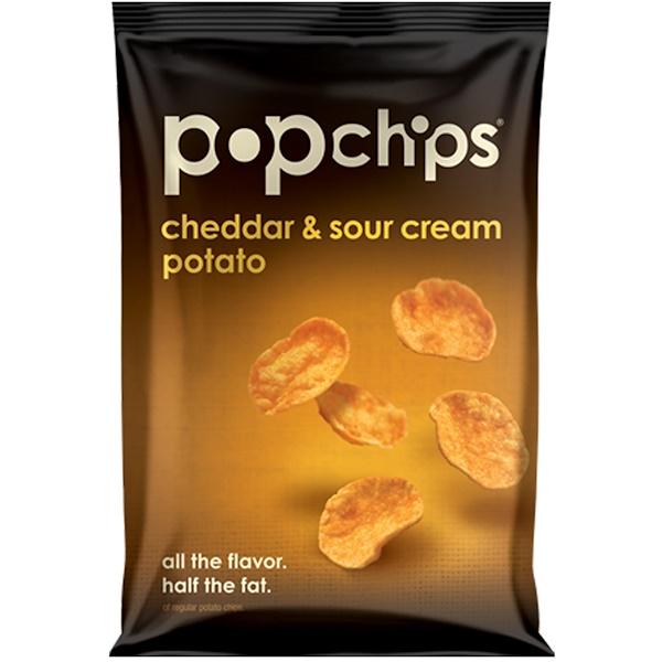 Popchips, Картофельные чипсы с чеддером и сметаной, 3,5 унций (99 гр) (Discontinued Item)