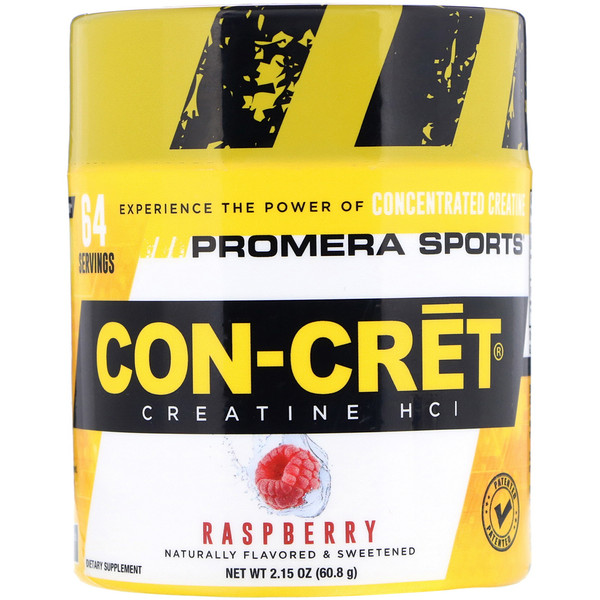 Promera Sports, Con-Cret Creatine HCl, малина, 2,15 унц. (60,8 г) (Discontinued Item)