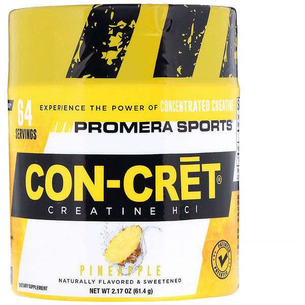 Promera Sports, Con-Cret Creatine HCl, ананас, 2,17 унц. (61,4 г) (Discontinued Item)