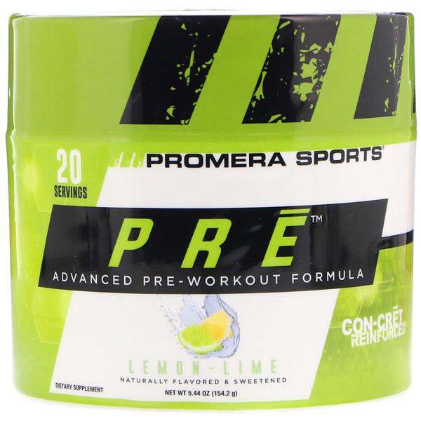 PRE, усовершенствованная предтренировочная формула, лимон-лайм, 5,44 унц. (154,2 г)