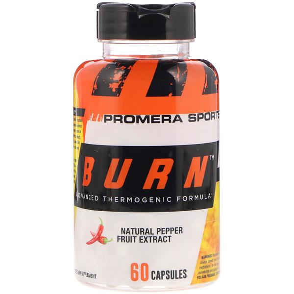 Promera Sports, Burn, усовершенствованная термогенная формула, 60 капсул (Discontinued Item)