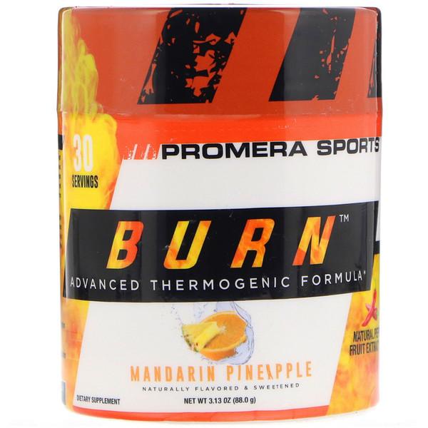Burn, усовершенствованная термогенная формула, мандарин и ананас, 3,13 унции (88,0 г)