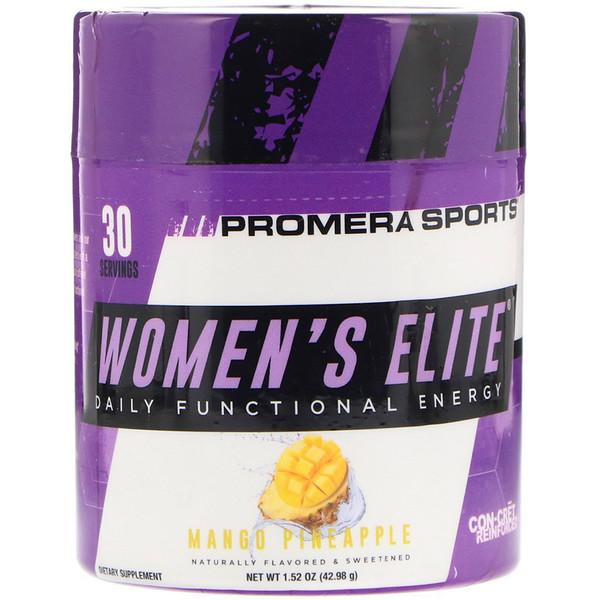 Promera Sports, Женская элита, ежедневная функциональная энергия, ананас и манго, 1,52 унции (42,98 г) (Discontinued Item)