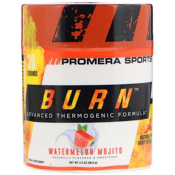 Burn, усовершенствованная термогенная формула, арбуз и мохито, 3,3 унции (96 г)