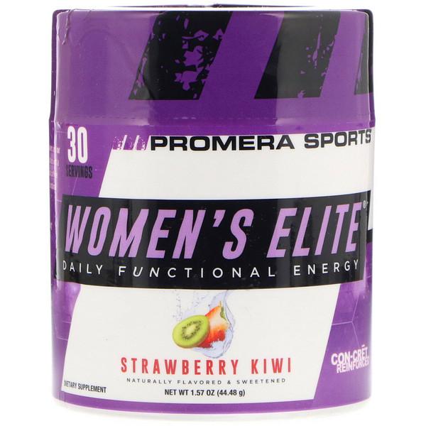 Promera Sports, Женская элита, ежедневная функциональная энергия, клубника и киви, 1,57 унции (44,48 г) (Discontinued Item)