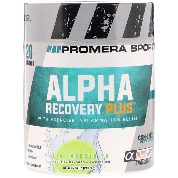 Promera Sports, Alpha Recovery Plus, лайм-маргарита, 7,53 унц. (213,3 г)
