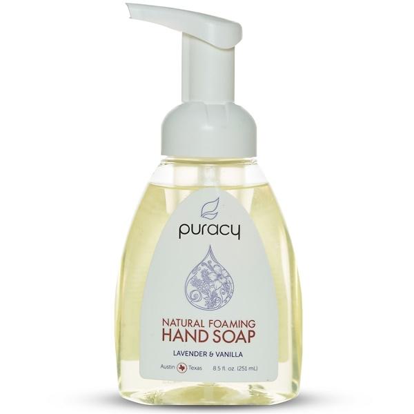 Puracy, Натуральное пенящееся мыло для рук, лаванда и ваниль, 8,5 жидких унций (251 мл) (Discontinued Item)
