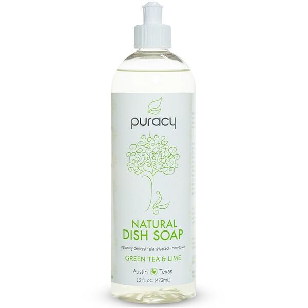Puracy, Органическое средство для мытья посуды, зеленый чай и лайм, 16 жидких унций (473 мл) (Discontinued Item)