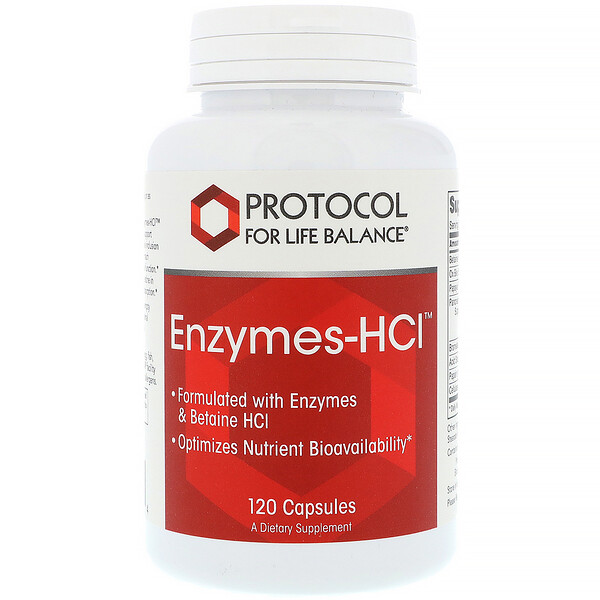 Энзимы-HCI, 120 капсул